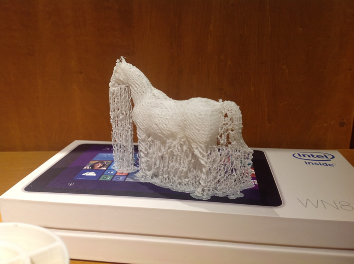 3Dプリンターで作られた製品