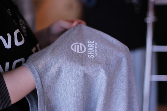 シルクスクリーンで制作したTシャツ